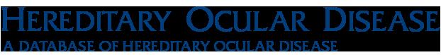 Hereditary Ocular Diseases
